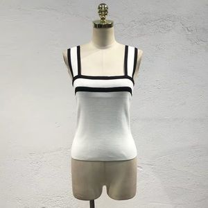 White and black camisoles